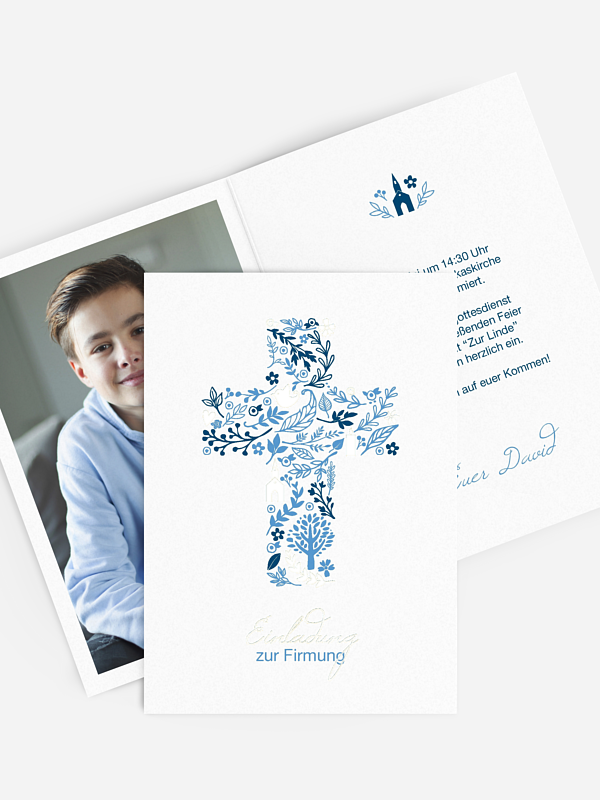 Einladung Firmung Florale Botschaft