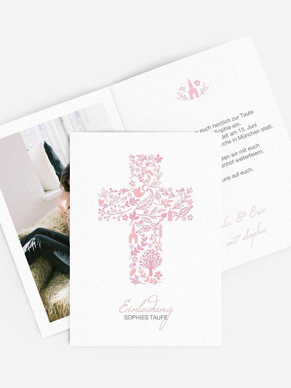 Taufeinladung Florale Botschaft
