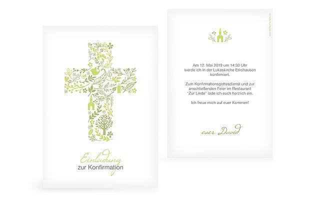 Konfirmationseinladung Florale Botschaft