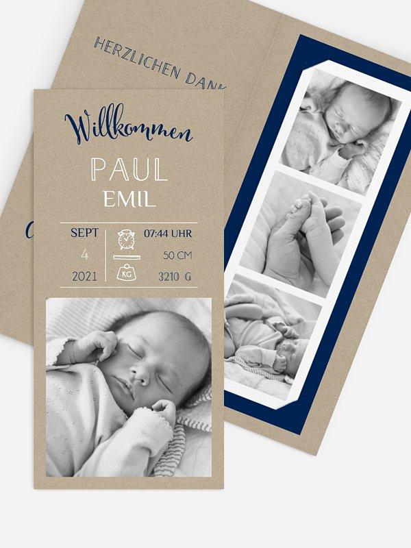 Geburtskarte Steckbrief