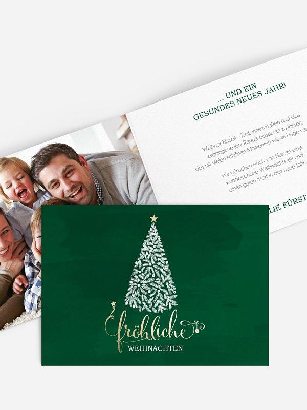Weihnachtskarte Wunderbaum
