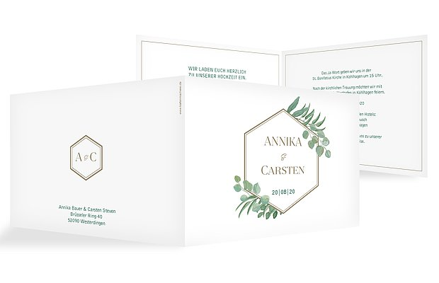 Hochzeitseinladung Eucalyptus