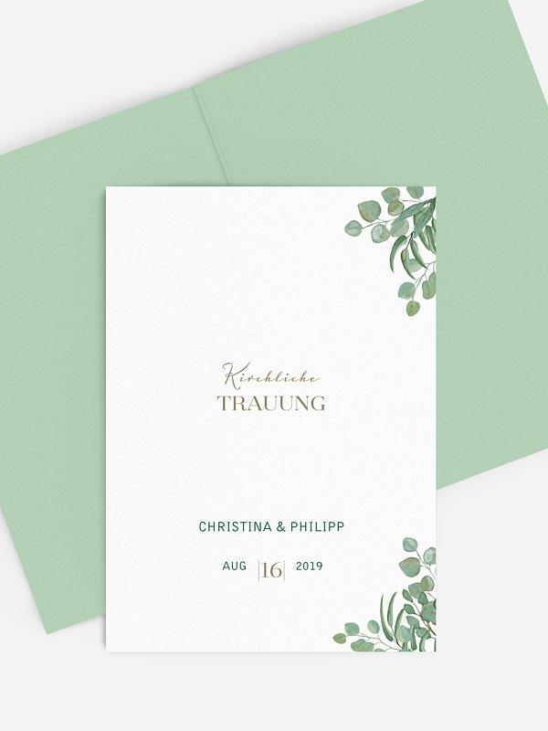 Kirchenheft Hochzeit Eucalyptus