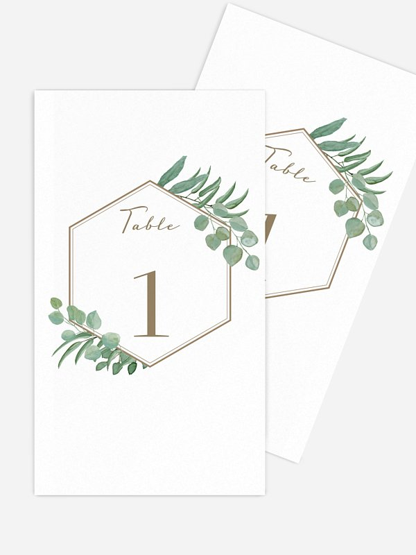 Numéro de table mariage Eucalyptus