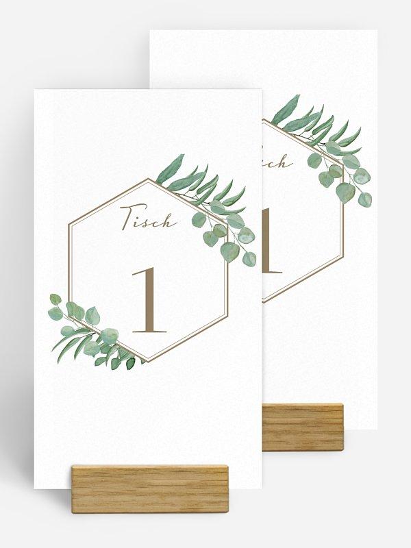 Tischnummer Eucalyptus