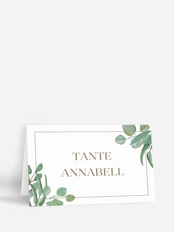 Tischkarte Hochzeit Eucalyptus