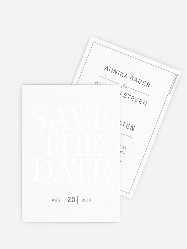 Save-the-Date Karte Pure Premium