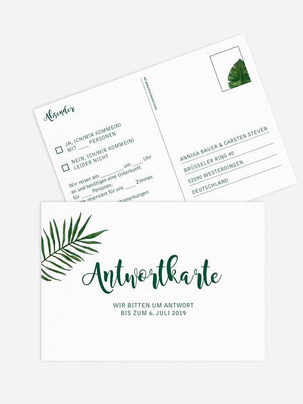 Antwortkarte Hochzeit Jungle Jive