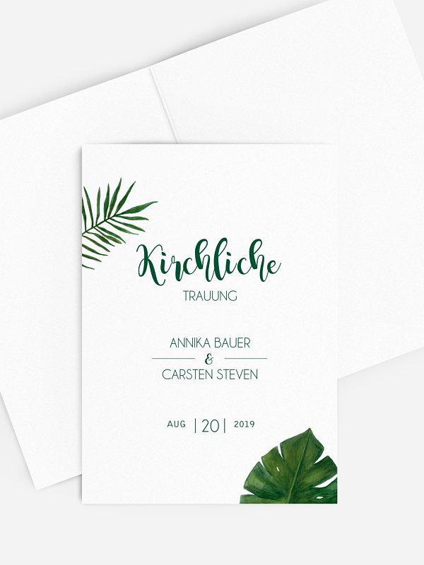 Kirchenheft Hochzeit Jungle Jive