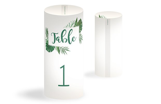 Numéro de table mariage Jungle