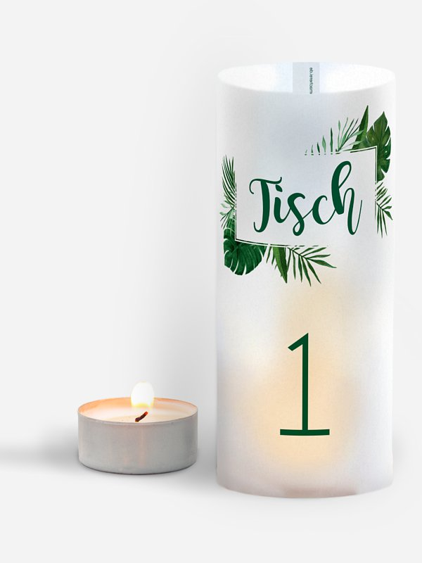 Tischnummer Jungle Jive