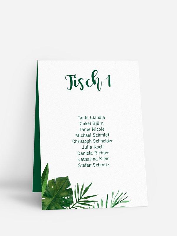 Gruppentischkarte Jungle Jive