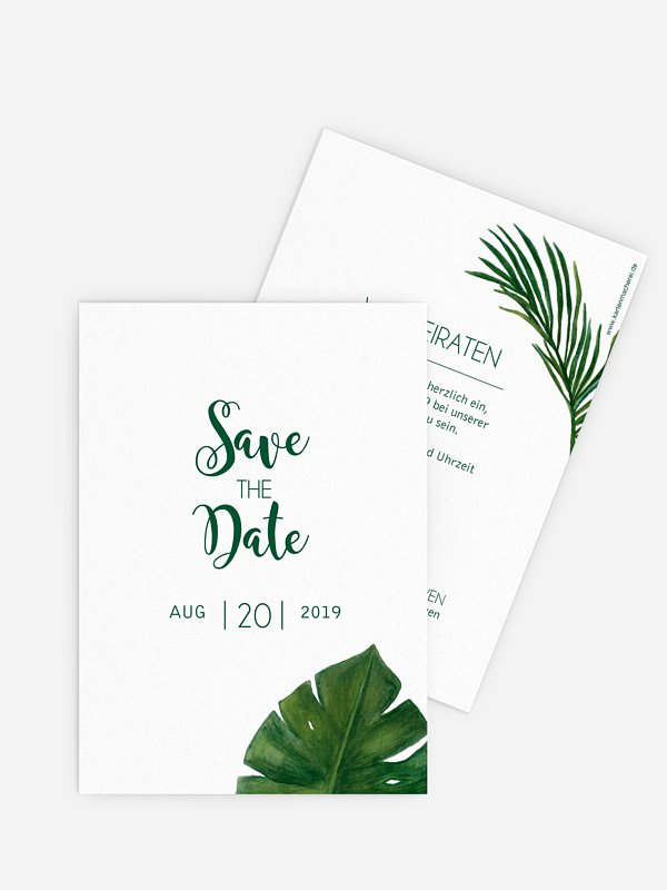 Save-the-Date Karte Jungle Jive