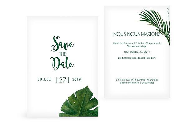 Save the date Jungle