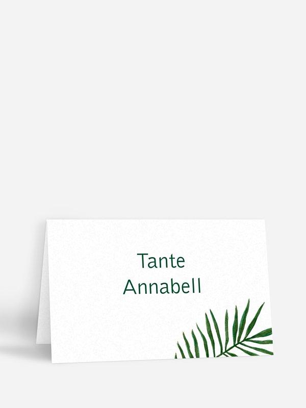 Tischkarte Hochzeit Jungle Jive