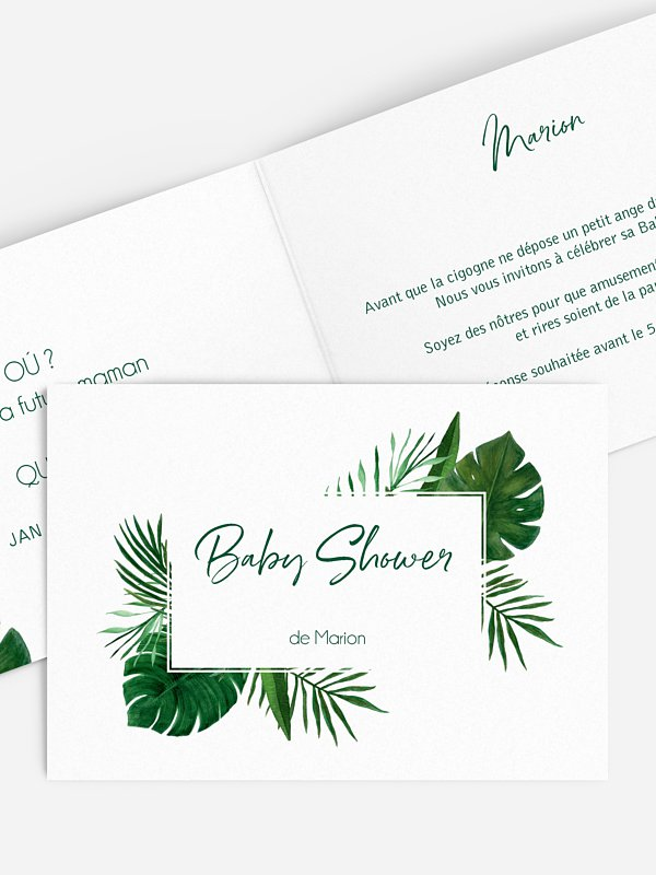 Invitation baby shower Jungle