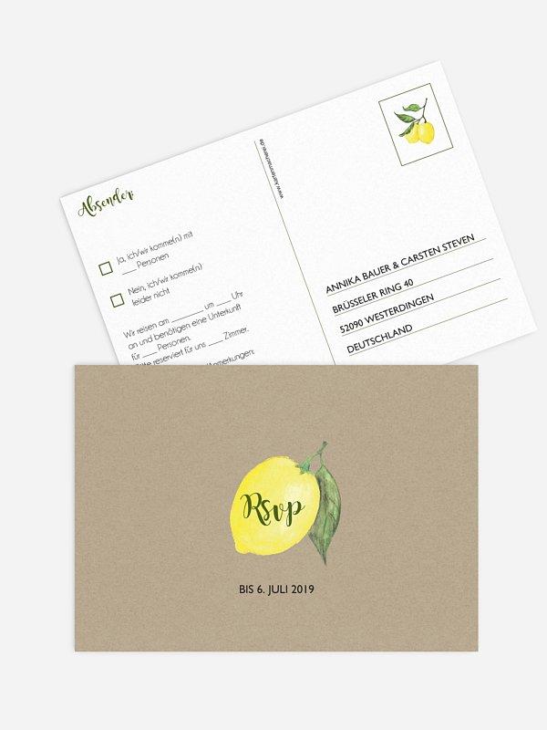 Antwortkarte Hochzeit Amalfi