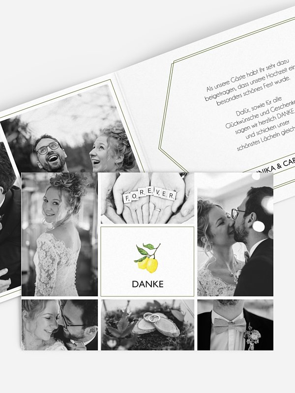 Dankeskarte Hochzeit Amalfi