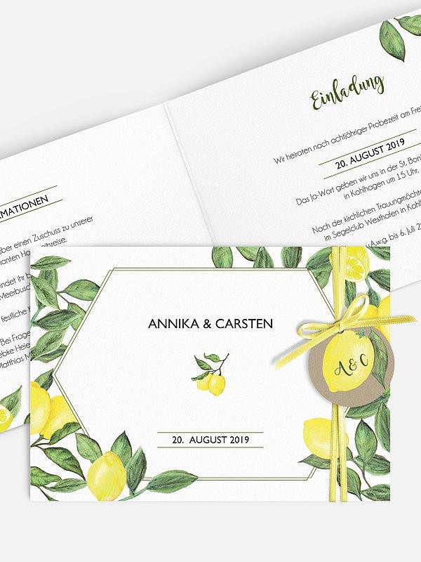 Hochzeitseinladung Amalfi