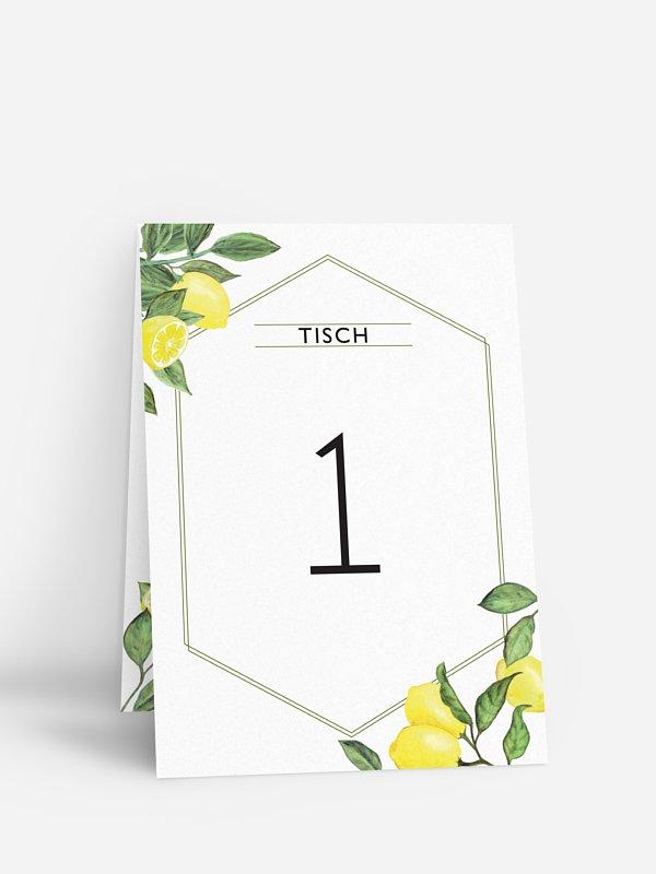 Tischnummer Amalfi