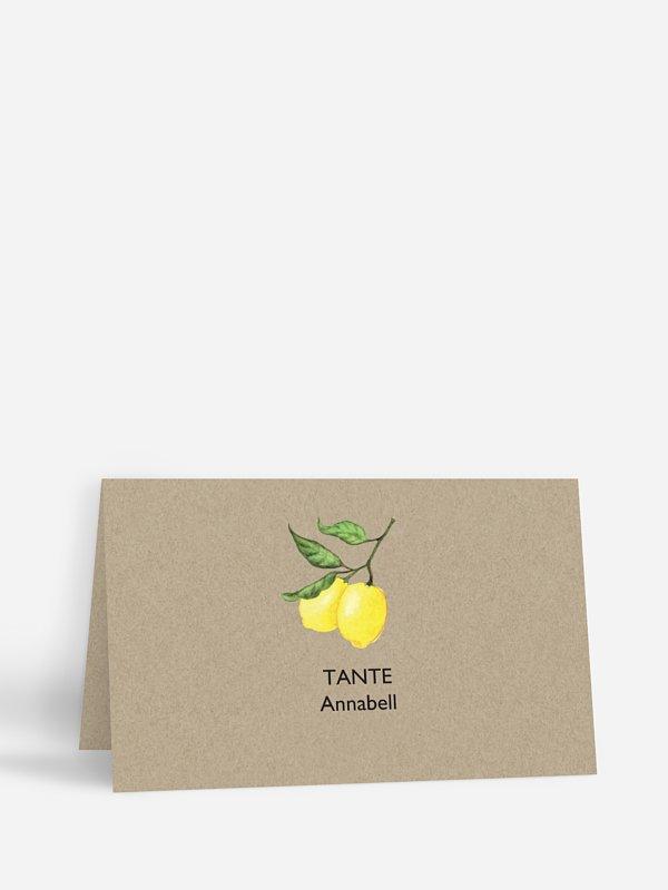Tischkarte Hochzeit Amalfi