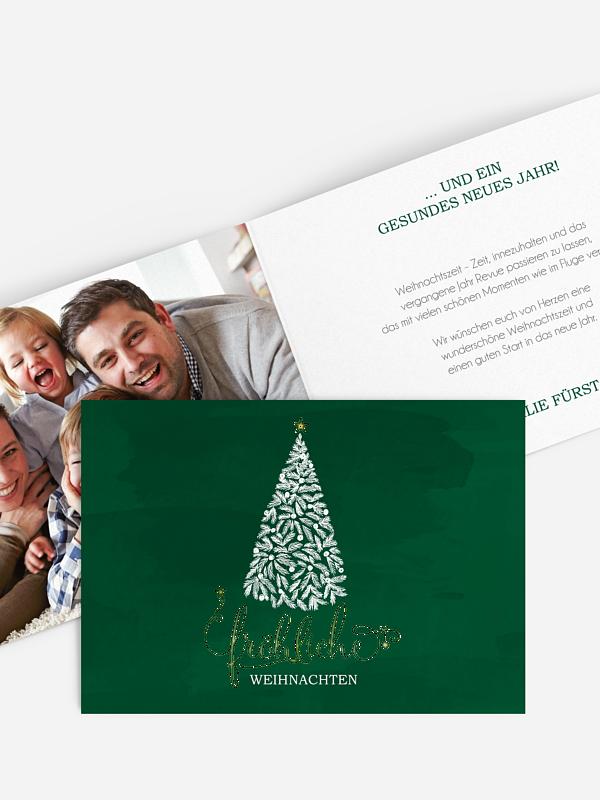 Weihnachtskarte Wunderbaum Premium