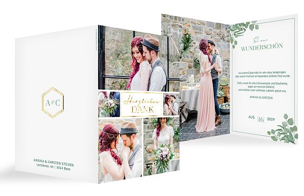 Dankeskarte Hochzeit Eucalyptus Premium