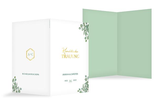 Kirchenheft Hochzeit Eucalyptus Premium