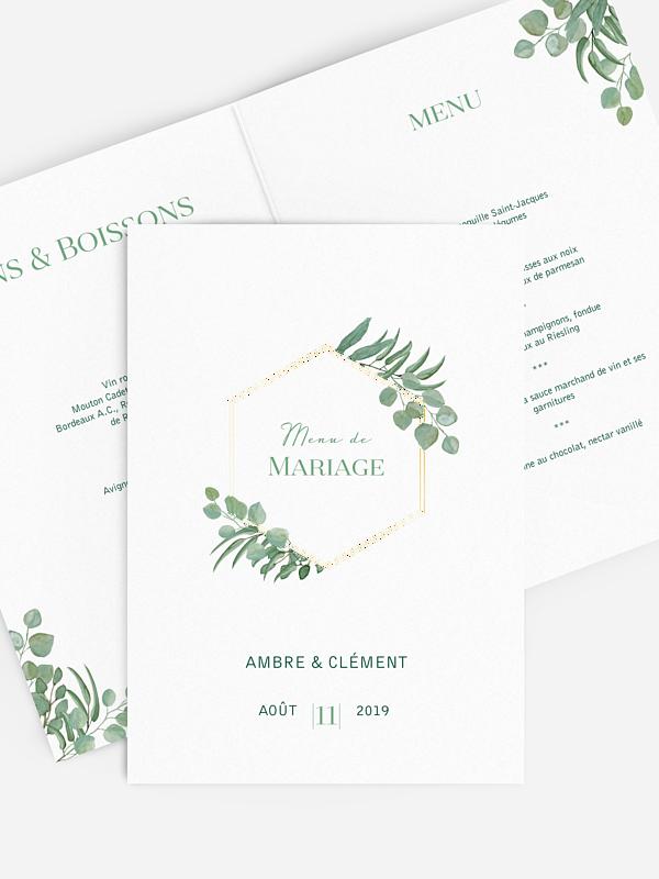 Menu mariage Eucalyptus Premium