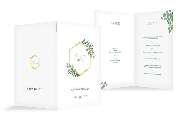 Menükarte Hochzeit Eucalyptus Premium