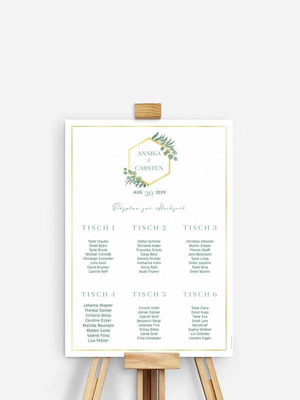 Sitzplan Plakat Eucalyptus Premium