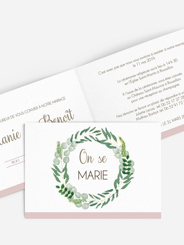 Faire-part mariage Greenery Premium