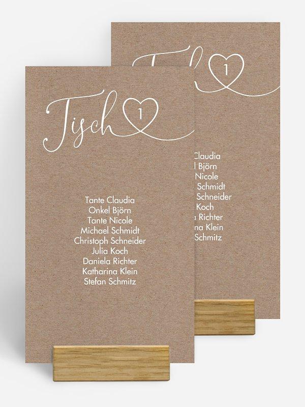 Gruppentischkarte Herzglück