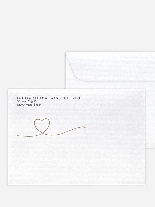 Briefumschlag mit Motiv Herzglück