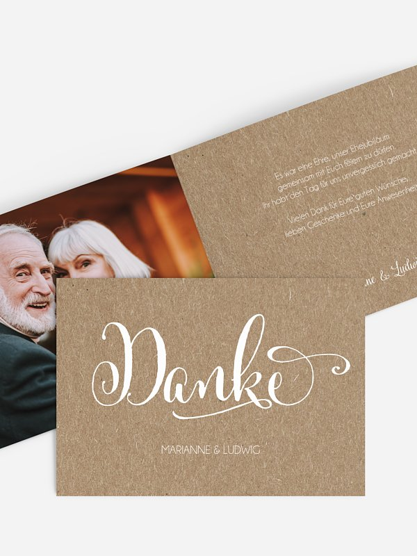 Danksagung zur Goldenen Hochzeit Für immer Kraftpapier