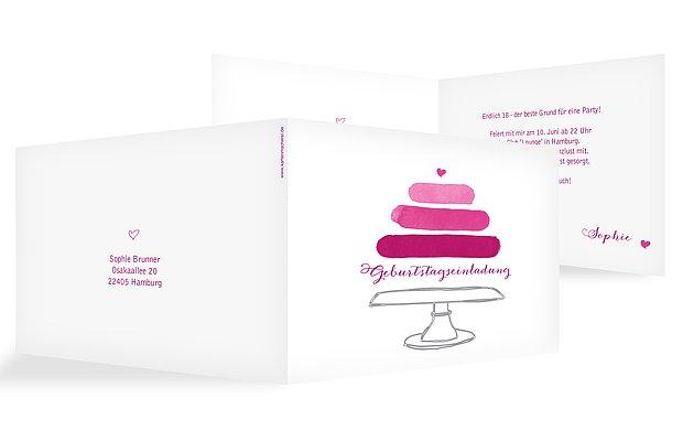 Einladung 18. Geburtstag Birthday Cake