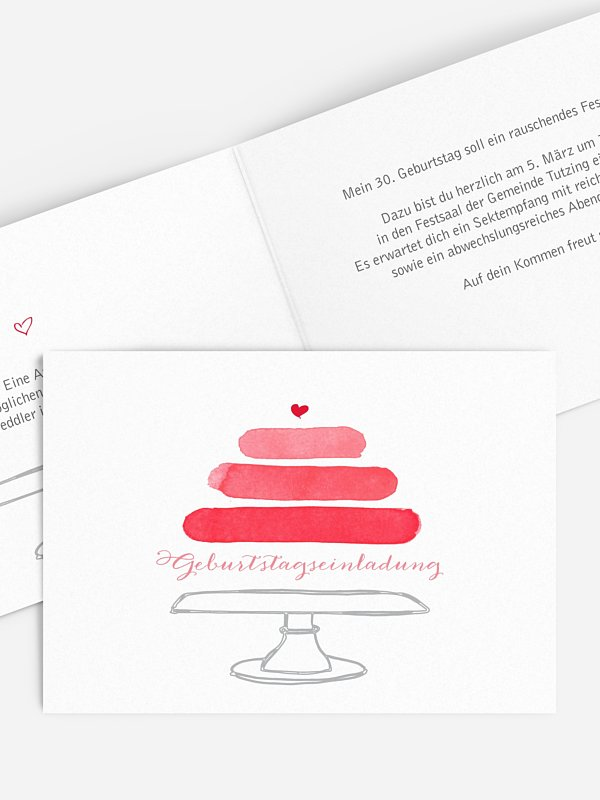 Einladung 30. Geburtstag Birthday Cake