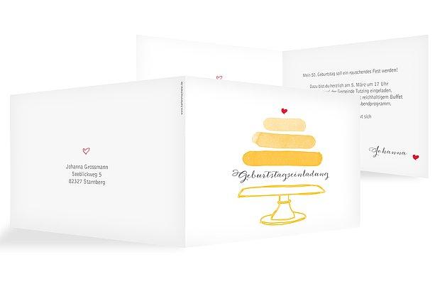 Einladung 50. Geburtstag Birthday Cake