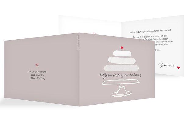 Einladung 60. Geburtstag Birthday Cake