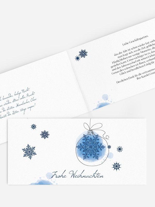 Geschäftliche Weihnachtskarte Weihnachtszauber