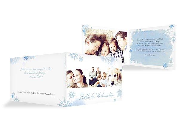 Weihnachtskarte Flöckchentanz