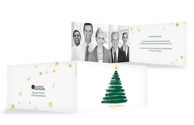 Geschäftliche Weihnachtskarte Christmas Tree