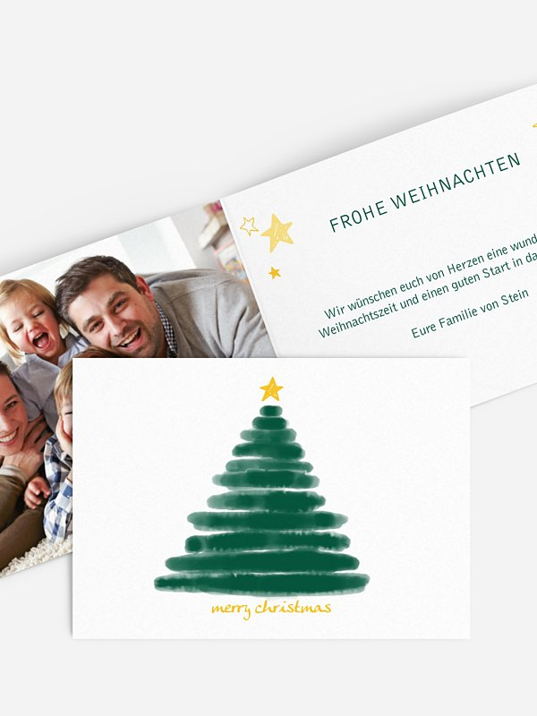 Weihnachtskarte Christmas Tree
