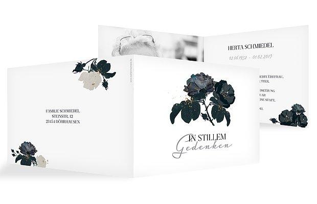Trauerkarte Black Flower