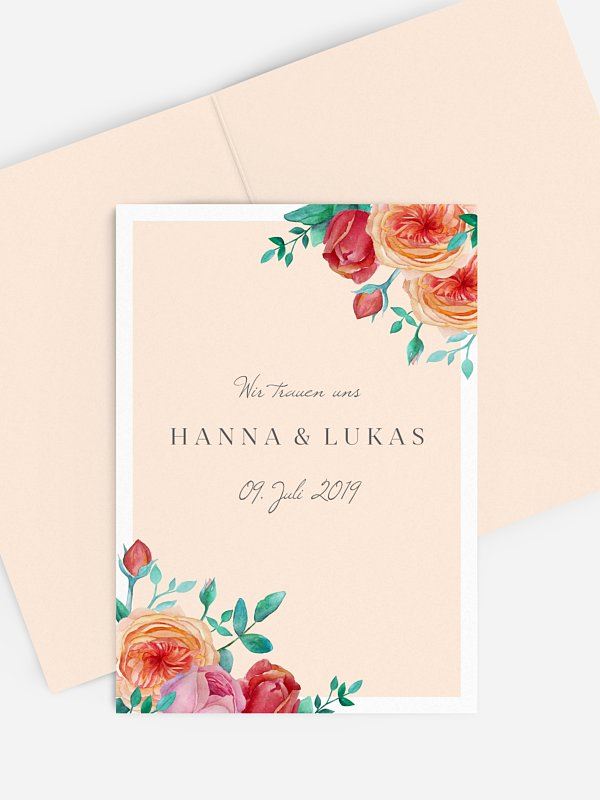 Kirchenheft Hochzeit Flower Bouquet