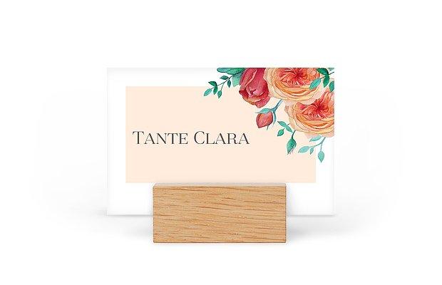 Tischkarte Hochzeit Flower Bouquet
