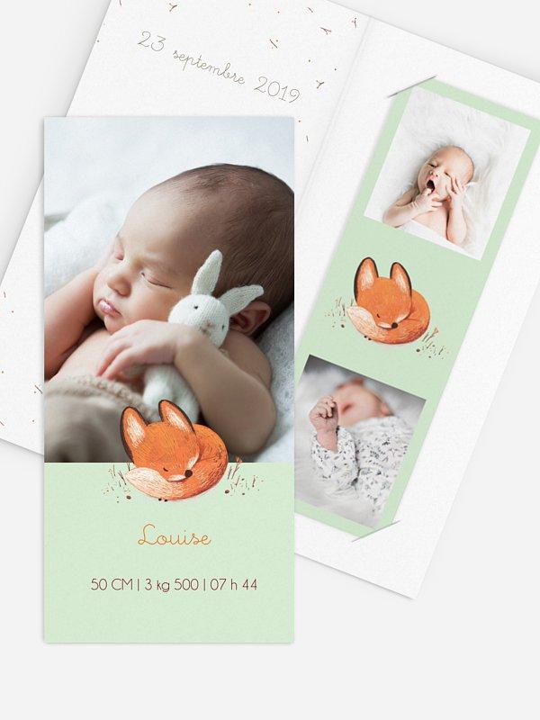 Faire-part naissance Petit renard