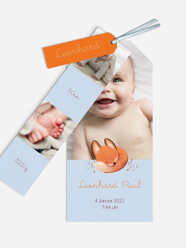Geburtskarte Kleines Füchslein