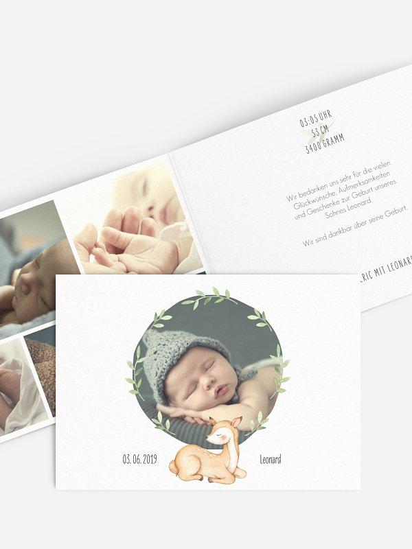Geburtskarte Kleines Kitz