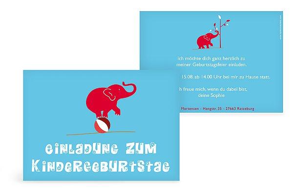 "Geburtstagseinladung ""Elefant"""